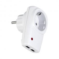 АДАПТОР-ЗА КОНАТКТ 2 USB Зарядно 16А
